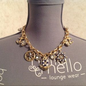 NWOT Charter Club Gold Tone Sail Charms Necklace